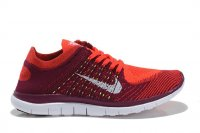 Womens Nike Free 4.0 Flyknit Red Orange