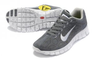 Womens Nike Free Run+ 3 Fur Grey White