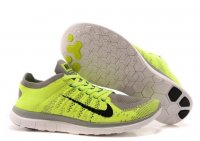 Mens Nike Free 4.0 Flyknit Green Grey