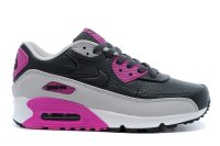 Men&Womens Nike Air Max 90 Leather Black Purple