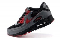 Mens Nike Air Max 90 Black/Grey/Red