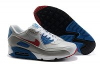 Womens Nike Air Max 90 White/Grey/Blue/Red