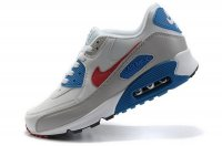 Mens Nike Air Max 90 White/Grey/Blue/Red