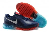 Mens Nike Air Max 2014 Dark Blue Orange Leather