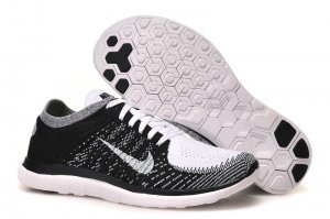 Mens Nike Free 4.0 Flyknit Black White