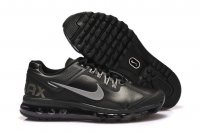 Mens Air Max 2013 Leather Black Silver
