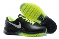 Mens Nike Air Max 2014 Leather Black Green