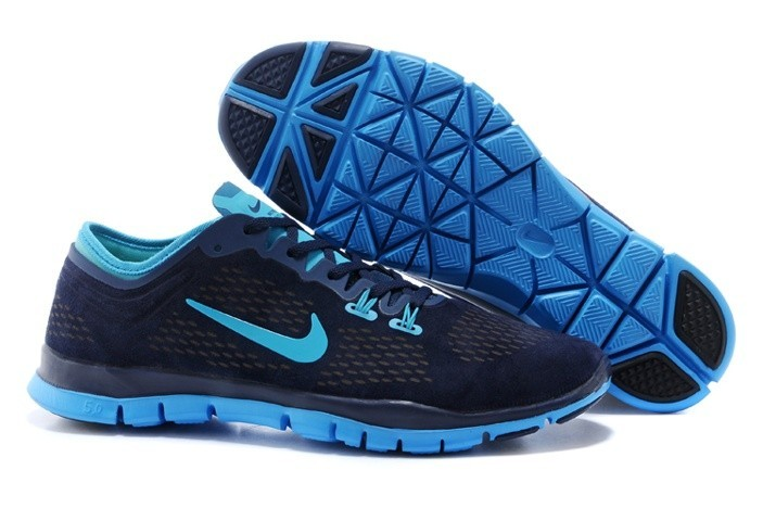 Womens Nike Free TR Fit Blue - Click Image to Close