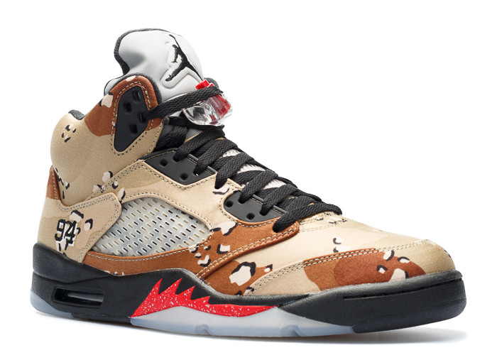 "air jordan 5 retro supreme ""supreme"" - Click Image to Close"